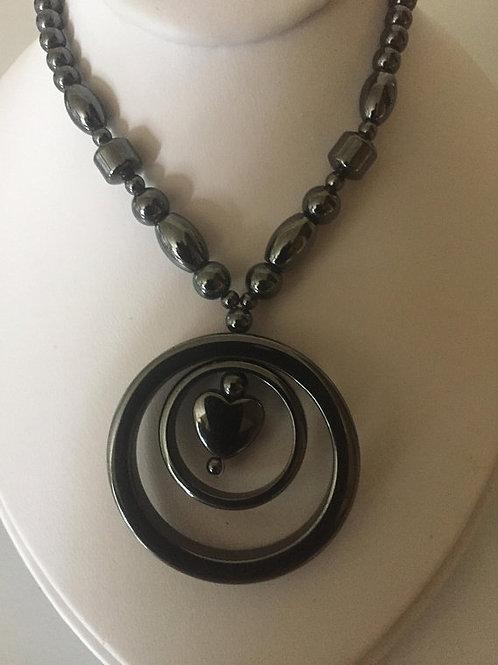 Circular Hematite Necklace