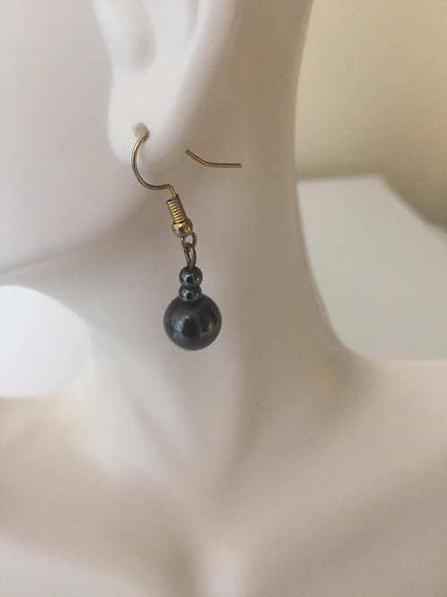 Circular Hematite Earrings