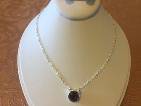 Ruby Necklace Earrings Set