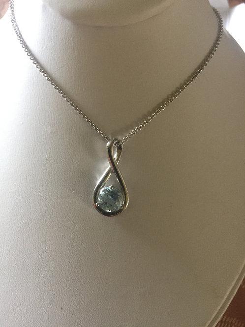 Topaz Necklace Earrings set