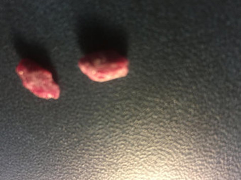 2 Pieces of Ruby Minerals