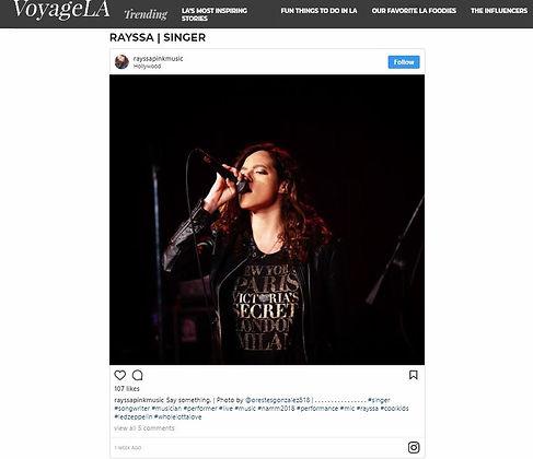 Rayssa featured on Voyage LA Rayssa music singer artist musician rayssamusic rayssapinkmusic rayssa gomes