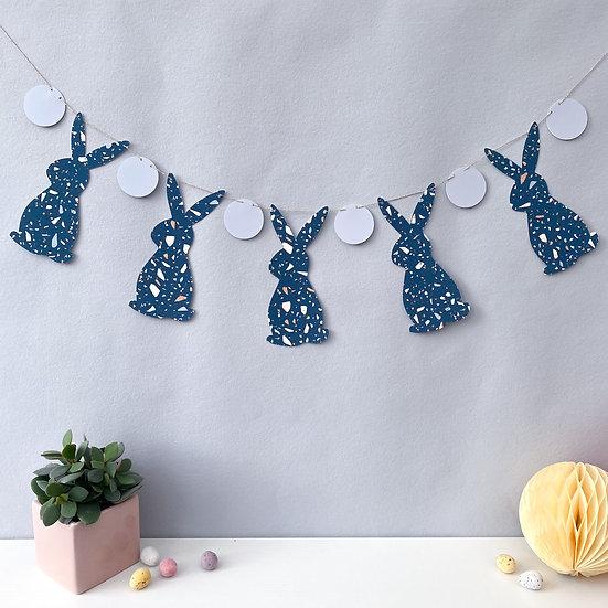 Azzurro Terrazzo Bunny Garland