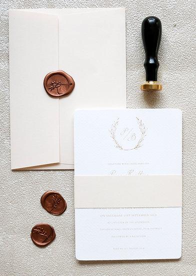 Illustrated Wreath Wedding Invitation Collection