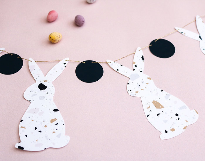 Ravello Terrazzo Easter Bunny Garland
