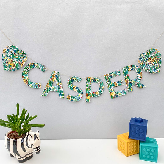 Vibrant Jungle Name Bunting