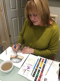 Adult art lesson Solihull Sue Wiseman