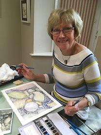 Adult art classes Solihull Sue Wiseman