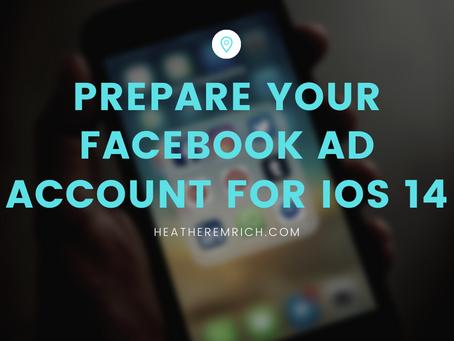 Prepare your Facebook Ad Account for IOS 14.5