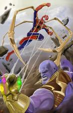 Spidey vs Thanos