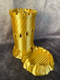 Gold Dice Tower