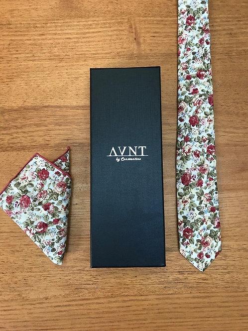 Floral Skinny Tie & Pocket Square