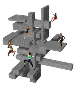 3D Rhino Illustration of Post- Modern Gym