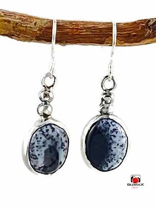 Merlinite Gemstone Dangling Earrings