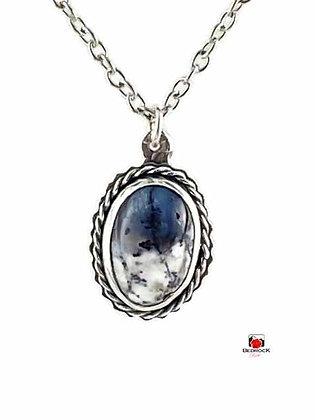 Elegant Merlinite Gemstone Sterling Silver Pendant