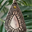 Fine Silver Mirror Finish Shield Citrine Necklace