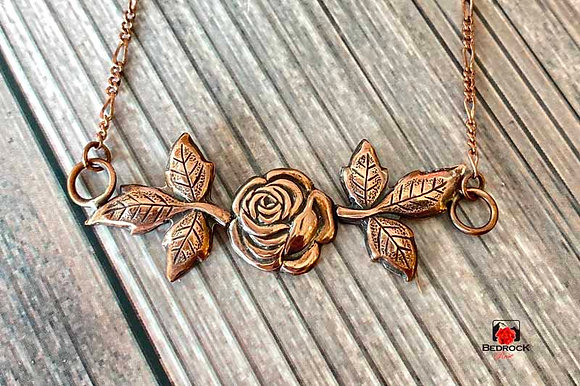 Warm Copper Rose Pendant