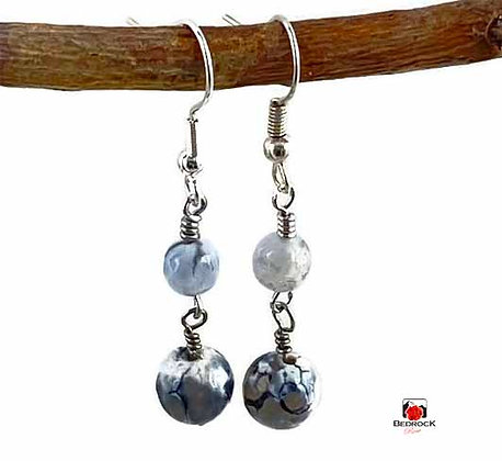 Cracked Agate Dangling Earrings