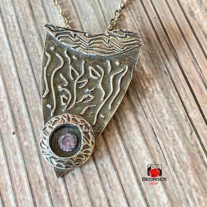 Dazzling Fine Silver Pendant with Lavender CZ