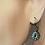 Thumbnail: Silver Dainty Chandelier Dangling Earrings
