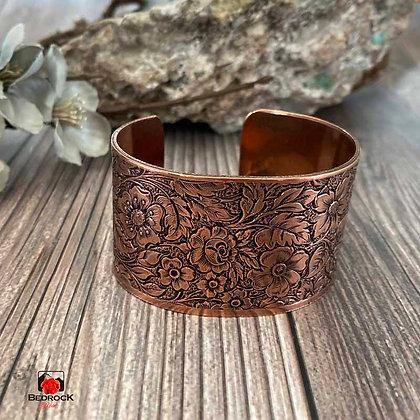 Cranston Wire Copper Floral Cuff