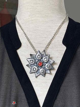 Bold Art Deco Sterling Silver Pendant