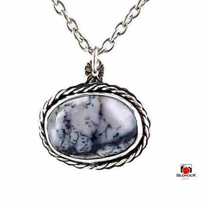 Landscape Merlinite Gemstone Sterling Silver Pendant