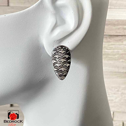 Silver Reverse Teardrop Earrings