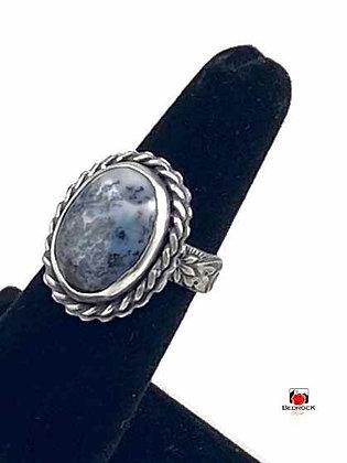 Merlinite Gemstone Sterling Silver Ring
