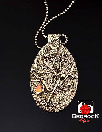 Organically Hand-Crafted Fine Silver Pendant
