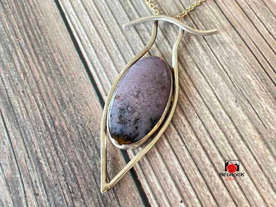 Framed Purple Jasper Pendant