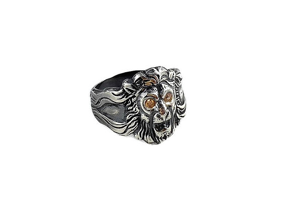 Regal Leo Sterling Silver Ring