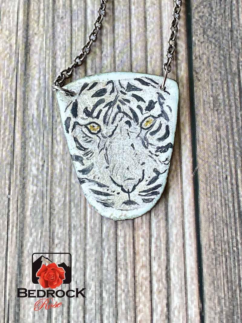 Tiger-Enamel-Pendant
