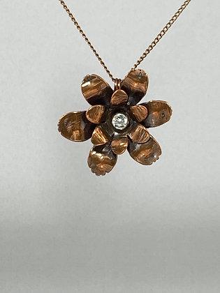 Copper Flower Pendant