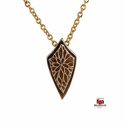 Dainty Rose Bronze Shield Pendant