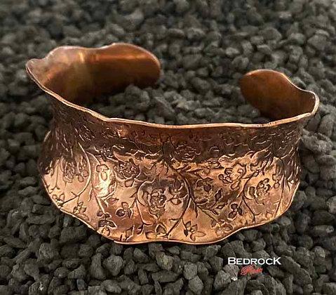 Rosevine Copper Cuff with Ruffles