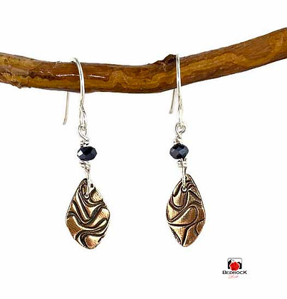 Ravishing Rose Bronze Squiggle Dangle Earrings