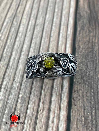 Silver Rose Embellished Ring
