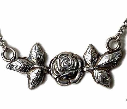 Fine Silver Tea Rose Pendant