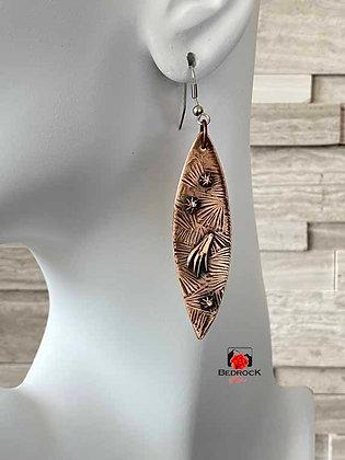 Irresistible Elongated Oval Bronze Earrings