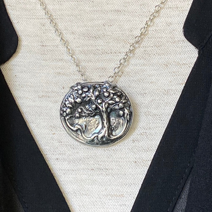 Sterling Silver Paris Orchard Pendant