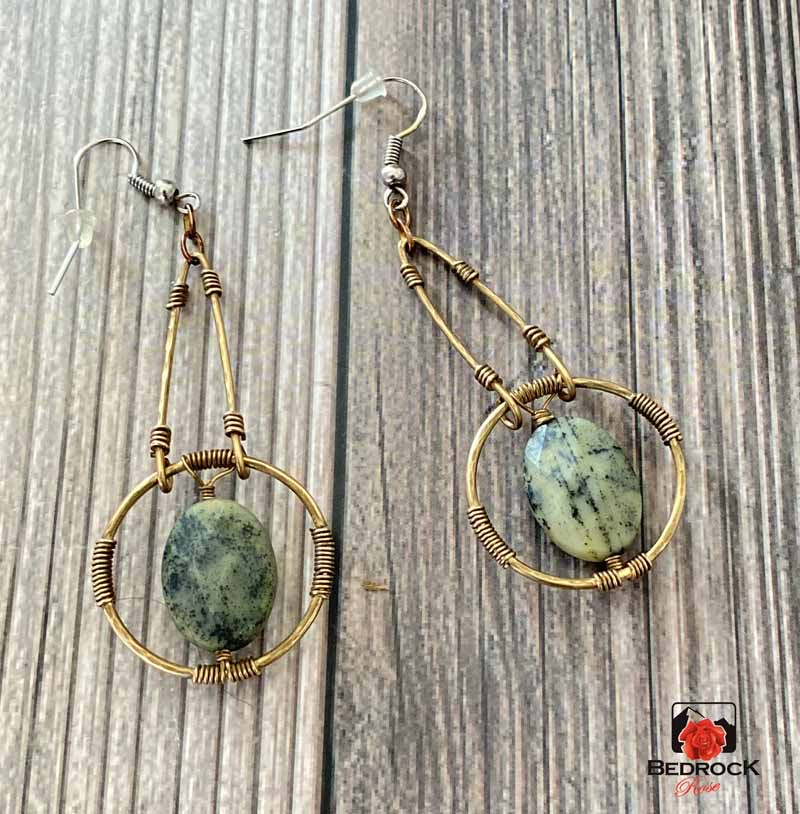Jasper-Stone-Dangle-Earrings