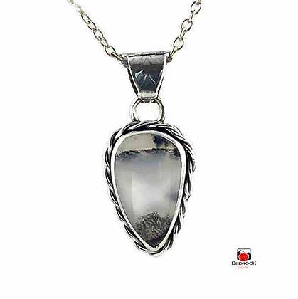 Merlinite Gemstone Sterling Silver Pendant