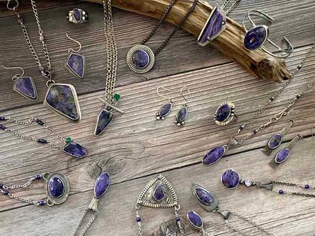 Vibrant Purple Charoite!