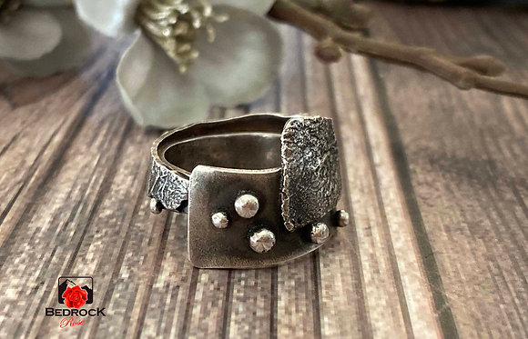 Sterling Argentium Silver Fused Ring
