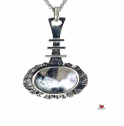 Sterling Silver Merlinite Gemstone Pendant