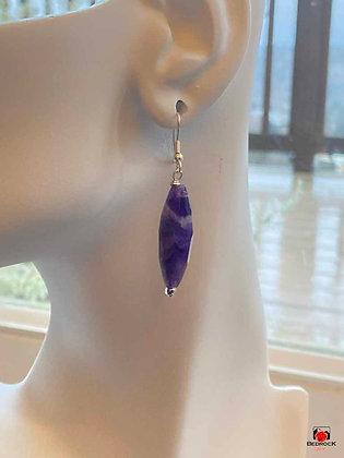 Purple Amethyst Dangling Earrings