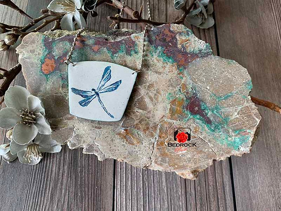 Mystical Blue Dragonfly Pendant