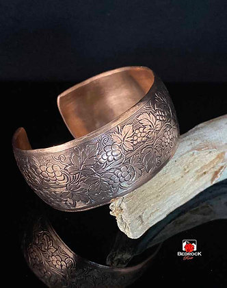 Synclastic Copper Grapevine Cuff
