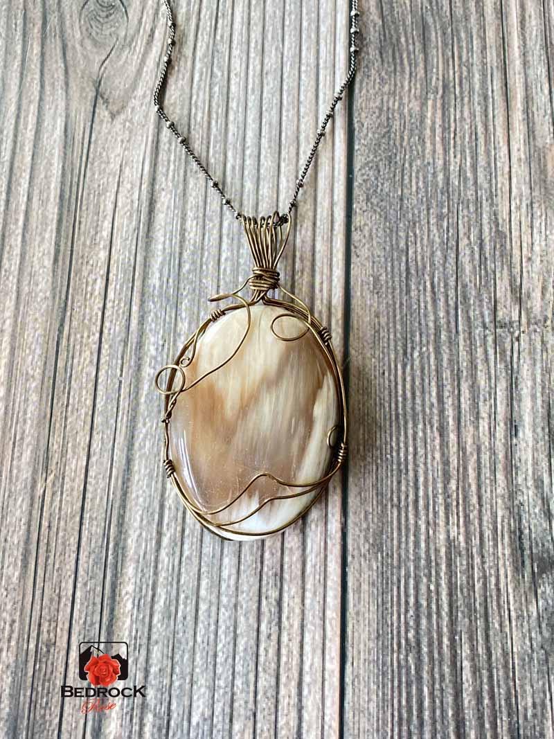Petrified-Wood-Bronze-Wire-Wrap-Pendant.